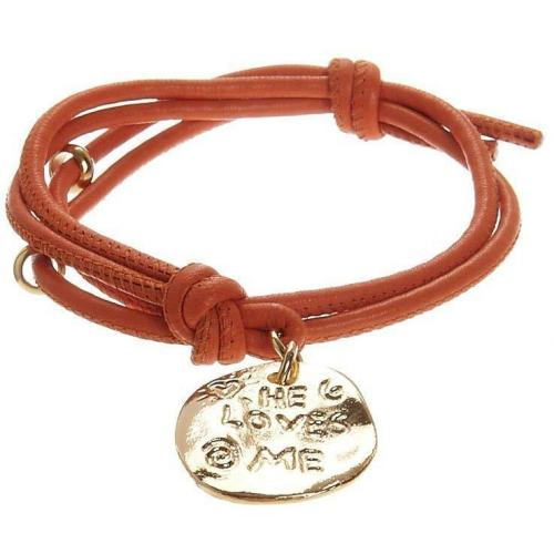 He Loves Me Armband orange von Yulyaffairs